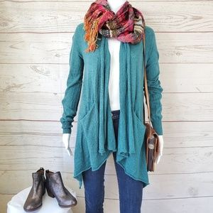 Anthropologie Sparrow draped cardigan with pockets